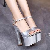 恨天高粗跟高跟鞋女18/20cm超高跟鞋歐美性感
