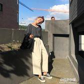 新款長褲韓版闊腿高腰百搭寬鬆學生休閒褲女  朵拉朵衣櫥