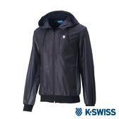 K-SWISS Contrast Side Panel Windbreaker風衣外套-男-黑