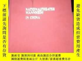二手書博民逛書店NATONALTHEATER罕見MANNHEIM IN CHIN