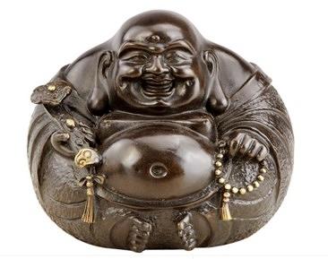 開光純銅彌勒擺件佛像 - 小