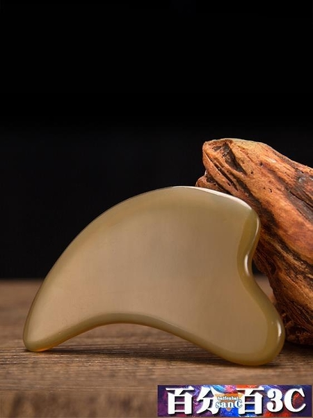 刮痧板 牦牛角加厚小海豚刮痧板面部臉部美容全身頸部提升緊致皮膚美容片 百分百