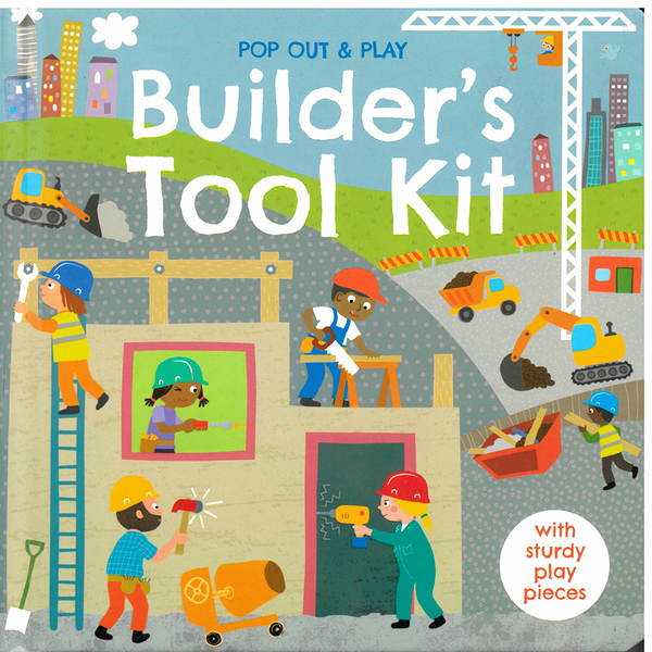 【工具認知書】BUILDER'S TOOL KIT/POP OUT&PLAY ? /硬頁拼圖書