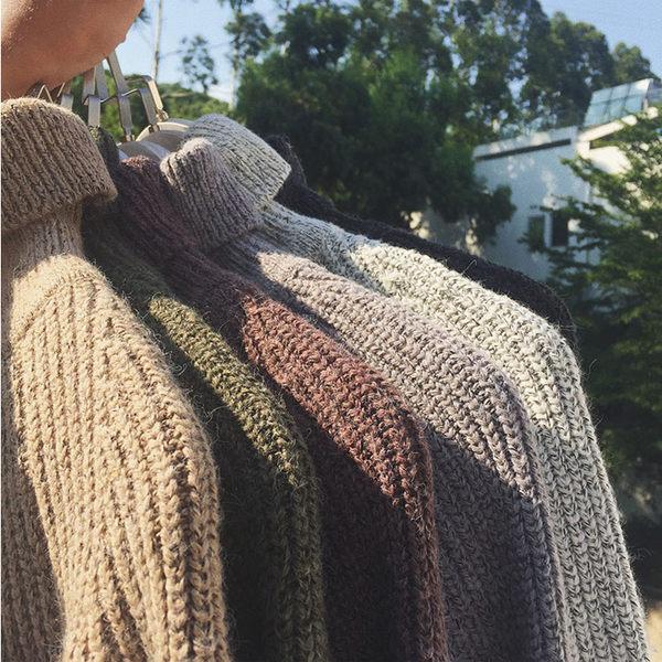 經典復古純色高領造型百搭保暖毛衣