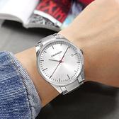 CK / K4N2114Y / 率性紳士 都會時尚 礦石強化玻璃 日期 不鏽鋼手錶 銀色 40mm
