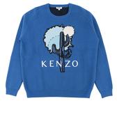 【KENZO】仙人掌亮片長袖上衣(寶藍色)  2T0561858 74