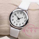 手錶 簡約夜光皮帶學生手錶男女中小學考試防水石英錶數字式電子錶