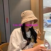 韓版復古百搭漁夫帽夏薄款遮陽水桶帽顯臉小盆帽【桃可可服飾】