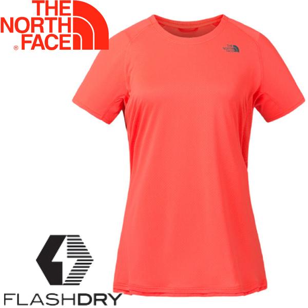 【The North Face 女 排汗短T《珊瑚色》】3F22/排汗衣/短袖★滿額送