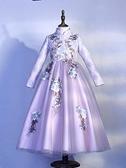 兒童禮服 連衣裙春加絨公主裙兒童裙子冬裝新款洋氣禮服女冬款新年裙TW【快速出貨八折鉅惠】