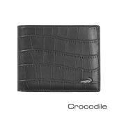 Crocodile 經典鱷魚壓紋短夾   0103-4007