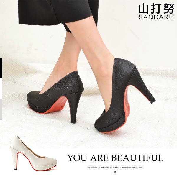 高跟鞋 霧面亮粉紅底高跟鞋- 山打努SANDARU【1062616、107A2616#46】