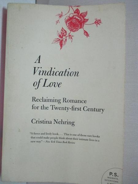 【書寶二手書T1/原文書_INR】A Vindication of Love: Reclaiming Romance for…