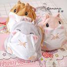 日本可愛立體抽繩束口袋可愛雜物毛絨收納袋...