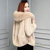 反季羊剪絨大衣女皮毛一體2018新款狐貍毛領皮草外套短款「時尚彩虹屋」