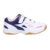 VICTOR 男女中童羽球鞋(訓練 運動 童鞋 魔鬼氈 勝利≡體院≡ A171JR-AJ
