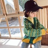 女童針織衫開衫2020秋季新款女寶寶兒童韓版寬鬆洋氣秋冬毛衣外套 滿天星