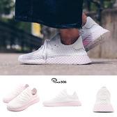 adidas 休閒慢跑鞋 Deerupt W 白 粉紅 網格設計 舒適中底 復古外型 女鞋 運動鞋【PUMP306】 B37601