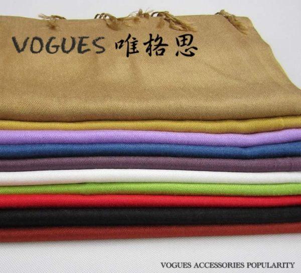 糖果色混搭寬版針織棉圍巾 (7色)N001 韓版 羊絨 混毛料【Vogues唯格思】