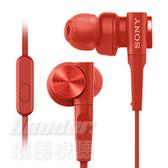 【曜德★新品】SONY MDR-XB55AP 紅 重低音入耳式 支援智慧型手機 / 免運 / 送硬殼收納盒