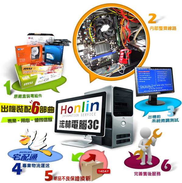 【台中平價鋪】全新 微星H110平台[虛空英雄] Core i3-6100 雙核心SSD效能電腦
