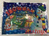 sns 古早味 糖果 雪人跳跳糖 跳跳糖 跳跳棒糖 (1.1公克x25小包)婚禮小物 聖誕節