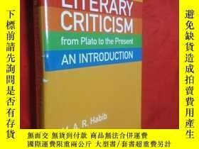 二手書博民逛書店Literary罕見Criticism from Plato t