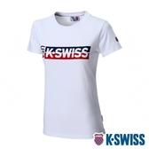 K-SWISS Ks Usa Tee印花短袖T恤-女-白