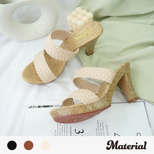 跟鞋 編織雙帶跟鞋 MA女鞋 T7661