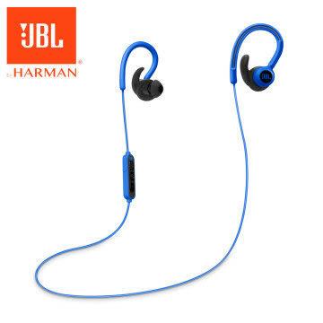 【台中平價鋪】全新『 JBL Reflect Contour 藍色 』 耳掛式運動無線藍牙耳機/藍芽4.0/防汗/反光線
