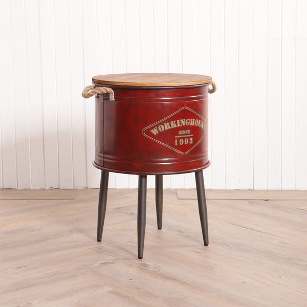 EASY工業風格圓桶桌-生活工場