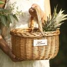 手工柳編編織戶外野餐籃