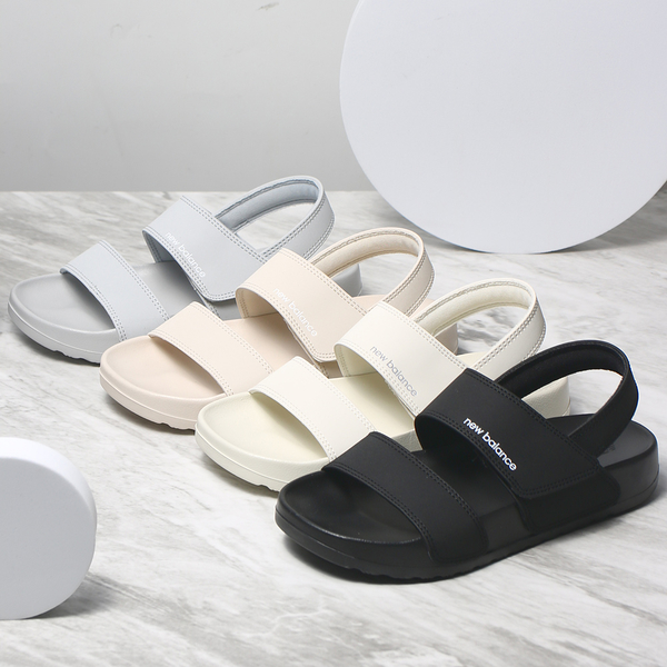 NEW BALANCE 涼鞋 韓版 奶茶 黑 灰 米白 拖鞋 女 (布魯克林) SD3601-