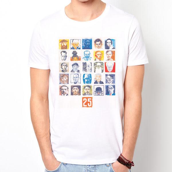 【Dirty Sweet】25 Face揷畫設計design短袖T恤/白色