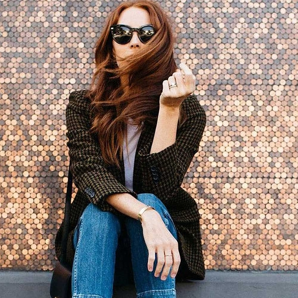 OLIVER PEOPLES 太陽眼鏡 DORE 100587 (黑) 潮流貓眼款 # 金橘眼鏡