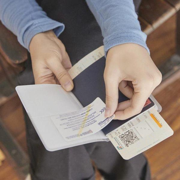 出國kakao透明護照夾卡通短款旅行護照保護套情侶機票夾證件包