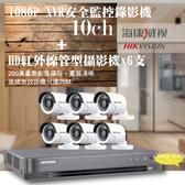 高雄監視器/200萬1080P-TVI/套裝組合【8路監視器+200萬管型攝影機*6支】DIY組合優惠價