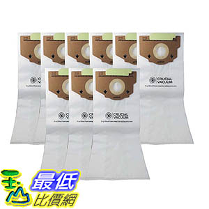 [106美國直購] 9 Eureka Style RR Allergen Filtration Vacuum Bags - Compare With Eureka Part 61115, 61115A, 61115B
