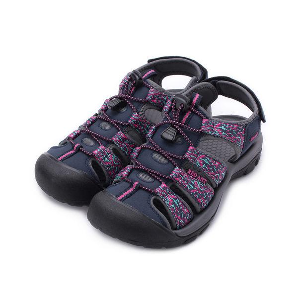 RED ANT 護趾運動涼鞋 藍 K1 女鞋 鞋全家福