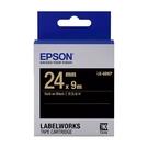 EPSON LK-6BKP C53S656405 粉彩系列黑底金字標籤帶 寬度24mm