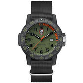LUMINOX 雷明時SEA TURTLE 0320海龜系列腕錶-軍綠/44mm A0337