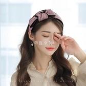 蝴蝶結發箍韓國甜美可愛頭箍森女繫頭飾成人網紅發卡壓發發帶洗臉  快速出貨