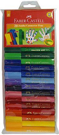 Faber-Castell JUMBO 20色連接彩色筆 *66-2000-20
