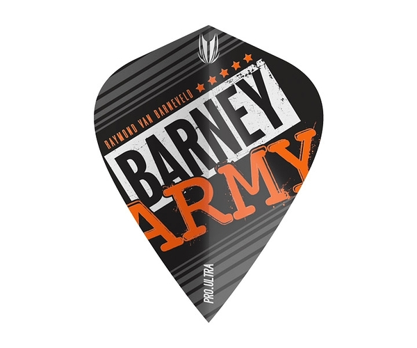 【TARGET】VISION ULTRA BARNEY ARMY Kite Black 334340 鏢翼 DARTS