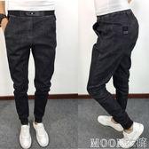 春秋新款小腳牛仔長褲快手紅人同款男士修身褲子社會精神小伙褲子    MOON衣櫥