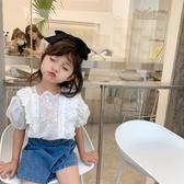 韓國2020女童夏季襯衫新款韓版兒童短袖襯衣寶寶夏裝洋氣上衣小孩衣服【居享優品】