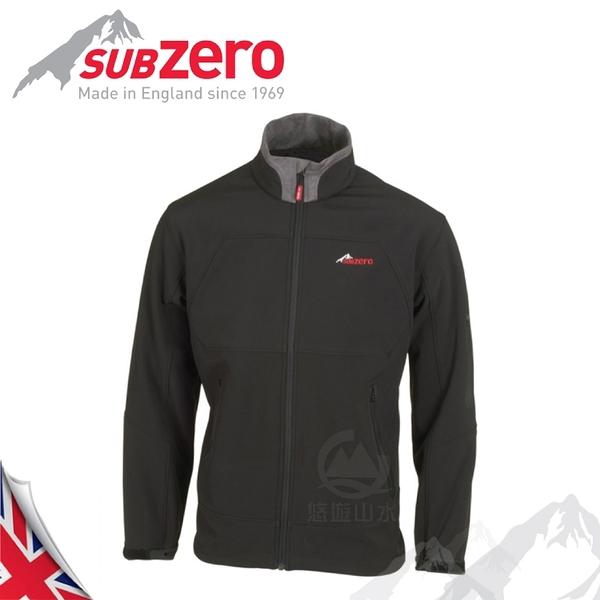 【Sub Zero 英國 男款 SoftShell 透氣防風外套《黑》】SoftShell/防曬夾克/保暖外套/登山外套
