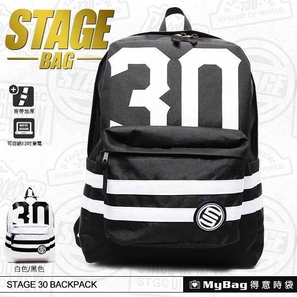 STAGE 後背包 A5140300589 黑色 多功能電腦後背包  MyBag得意時袋