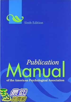 [104美國直購] 2015 美國暢銷書排行榜 Publication Manual of the American Psychological Association