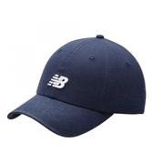 NEW BALANCE 丈藍 白刺繡LOGO 老帽 可調式 男女 (布魯克林) LAH91014NGO
